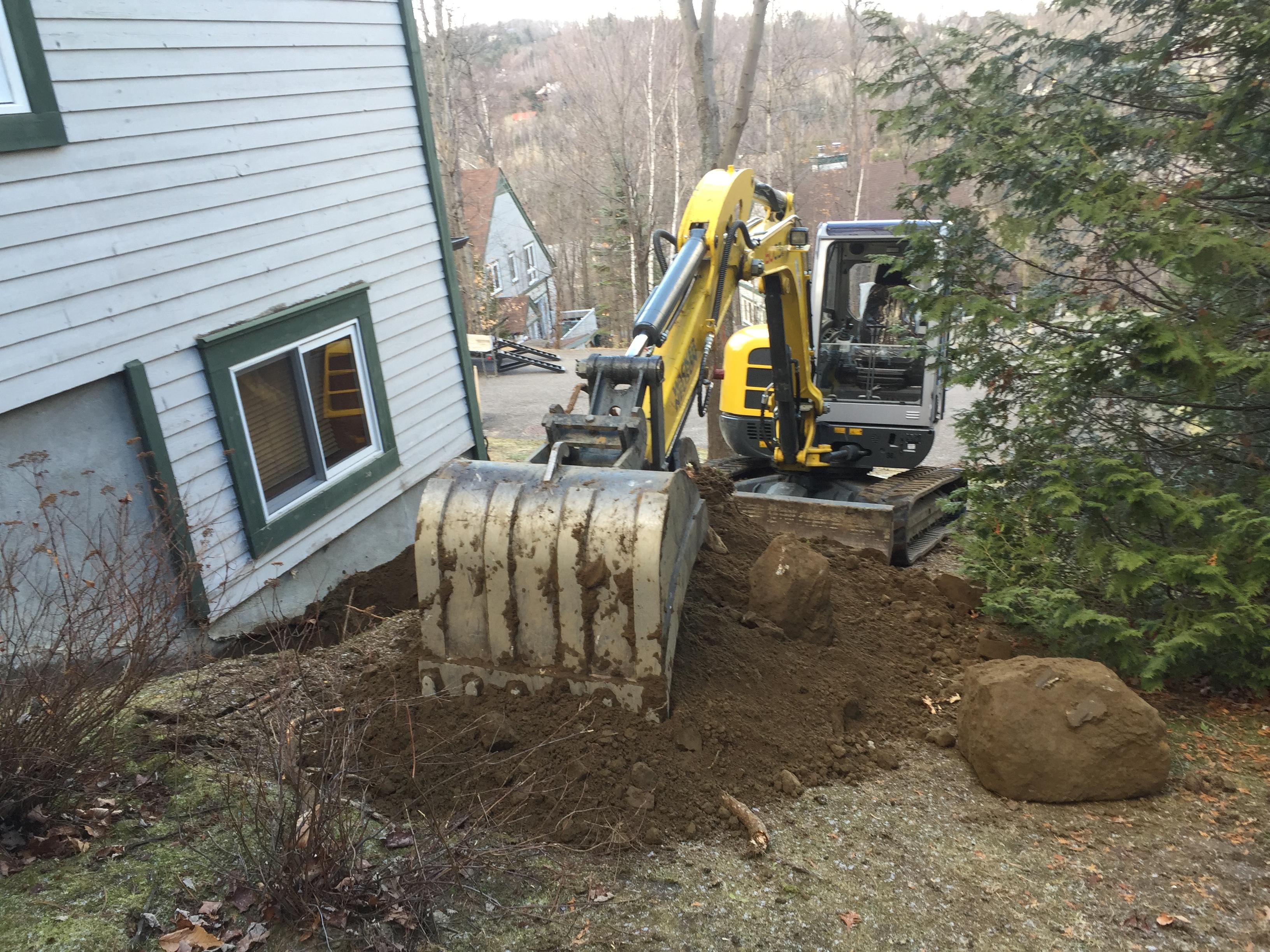 excavation pose de drains fran ais et r paration de. Black Bedroom Furniture Sets. Home Design Ideas
